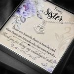 Thanks For Being My Unbiological Sister Gift For Sister Stainless Anchor Necklace