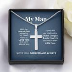Love You Forever And Always Gift For Your Man Stainless Cross Necklace