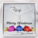 Merry Christmas To My Wife Alluring Beauty Necklace Gift For Her