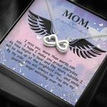 I Miss You Infinity Heart Necklace Memorial Gift For Mom In Heaven