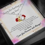 I'm Sorry Gift For Wife 14K White Gold Alluring Beauty Necklace