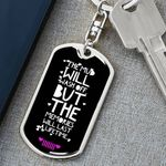 Mud And Memories Black Stainless Dog Tag Pendant Keychain Gift For Men