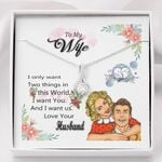 I Want You Gift For Wife 14K White Gold Alluring Beauty Necklace