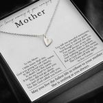 Gift For Angel Mother Who Smiling At You Always Sweetest Hearts Necklace