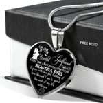 I Gaze With Awe Just Thingking Of Gift For Girlfriend Heart Pendant Necklace
