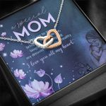 I Love You With All My Heart Interlocking Hearts Necklace Gift For Mom
