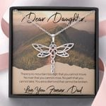 Love You Forever Gift For Daughter Dragonfly Dreams Necklace