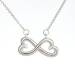 Find You Sooner And Love You Longer Gift For Future Wife 14K White Gold Infinity Heart Necklace