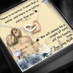 We'll Always Be A Couple Of Nuts Gift For Brother Interlocking Hearts Necklace