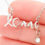 I Appreciate You Gift For Doctor Wife Stainless Scripted Love Necklace