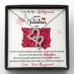 I Wish I Could Explain Your Eyes Double Hearts Necklace Gift For Lovers