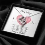 Gift For Wifey I Love You Every Single Day Double Hearts Necklace