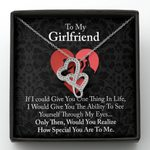 If I could Give You One Thing In Life Double Hearts Necklace Gift For Darling
