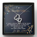 Gift For Wife It Takes A Special Girl To Hit My Heart Double Hearts Necklace