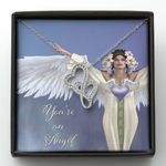 You're An Angel Double Hearts Necklace Gift For Mom