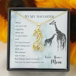 You Are The Best Friend For Life Gift For Daughter Giraffe Couple Necklace