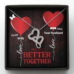 We're Better Together Double Hearts Necklace Gift For Wife