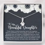 When We're Not Together White Flower Alluring Beauty Necklace Gift For Daughter