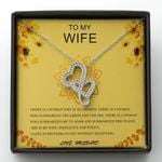 Love Everything In You Double Hearts Necklace Gift For Wife