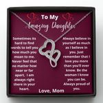 I Am Always Right There In Your Heart Double Hearts Necklace Gift For Daughter