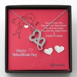 You Are My Hope Gift For Lover Double Hearts Necklace