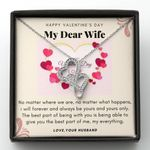 No Matter What Happens Double Hearts Necklace Gift For Wife
