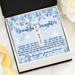 Always Be My Little Girl Birthstone Name Bar Necklace Gift For Daughter