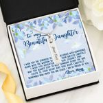 How Much You Are Loved Birthstone Name Bar Necklace Gift For Daughter