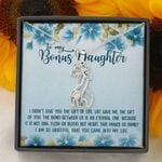 You Came Into My Life Blue Hibiscus Giraffe Couple Necklace Gift For Bonus Daughter