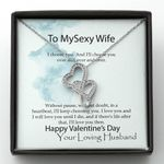 I'll Love You Then Double Hearts Necklace Valentine Gift For Wife