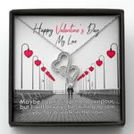 I Can't Stop The Downpour Double Hearts Necklace Gift For Darling