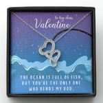 You Are The Only One Who Bends My Rod Gift For Lover Double Hearts Necklace