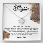 Hope You Believe In Yourself Lion Love Knot Necklace Gift For Daughter
