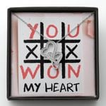 Xoxo Won My Heart Gift For Lover Double Hearts Necklace