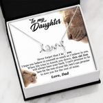 Scripted Love Necklace Gift For Daughter This Old Lion Will Always Have Your Back