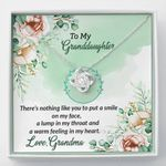 Put A Smile On My Face Gift For Granddaughter 14K White Gold Love Knot Necklace