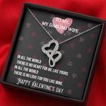 There Is No Love For You Like Mine Gift For Wife Double Hearts Necklace
