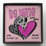 Be Mine Today And Always Double Hearts Necklace Gift For Wife