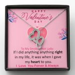 Gift For Your Lady I Love You Forever Pink Double Hearts Necklace