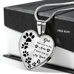 I Have You In My Heart Gift For Dog Lovers Stainless Heart Pendant Necklace
