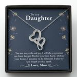 You Are My Pride And Joy Gift For Daughter Double Hearts Necklace
