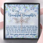 No Matter How Far You Travel Dragonfly Dreams Necklace Gift For Daughter