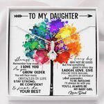 Always Be With You Colorful Tree Alluring Beauty Necklace Gift For Daughter