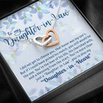 Daughter In Heart Interlocking Hearts Necklace Gift For Daughter In Law