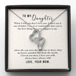 What My Heart Sounded Like From The Inside Double Hearts Necklace Gift For Daughter