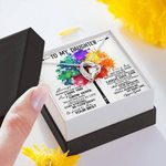 Colorful Tree Do Your Best Forever Love Necklace Gift For Daughter