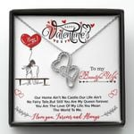 Birthday Gift For Wife You Mean The World To Me Double Hearts Necklace