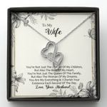The Woman Of My Dreams Double Hearts Necklace Gift For Wife