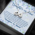A Blessing From The Start Infinity Heart Necklace Gift For Daughter In Law