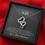 I Will Always Choose You Gift For Wife Double Hearts Necklace